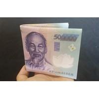 Ví da Nam in hình tiền - Loại 1 - Có hộp