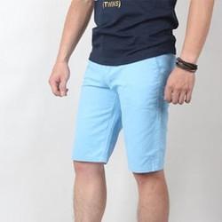 Hằng Jeans - Quần ngố thô nam, xanh dương trẻ trung 16001-06