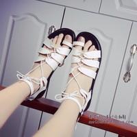 Giày sandal chiến binh dây cột da GF52010277