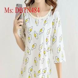 Đồ mặc nhà nữ ngắn tay họa tiết dễ thương DBTN484
