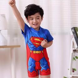Bộ bơi bé trai cộc siêu nhân