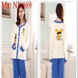 Đồ bộ mặc nhà pyjama thun cotton nhập khẩu NN469