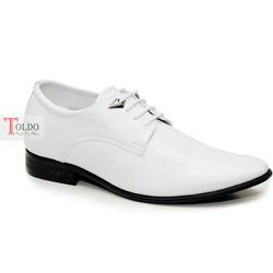 giày cao nam màu trắng