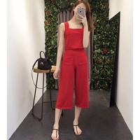 quần áo bộ 2 dây crop top Mã: AA629 - ĐỎ