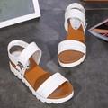 Giày sandal quai đeo đế bằng da GF52010261