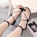 Giày sandal dây xỏ cột ngón da nhung GF52013265