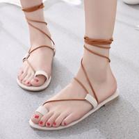 Giày sandal dây xỏ cột ngón da nhung GF52010269