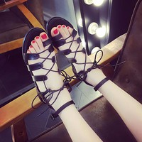 Giày sandal chiến binh dây cột da GF52013273