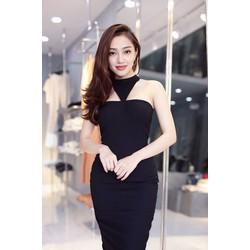 Đầm đen cúp ngực ôm body thiết kế đơn giản cực tôn dáng M3967
