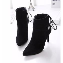 Giày boot nhung phong cách Hàn Quốc B016D