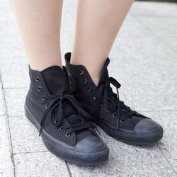 Giày converse full đen cổ cao Nam Nữ - superfake