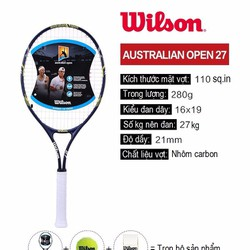 Vợt tennis Wilson - Australian open 27 Xanh Đen phối Trắng