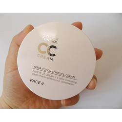 CC Cream The Face Shop Face It Aura Color Control Cream SPF 30 PA