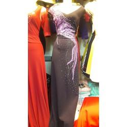Đầm dạ hội họa tiết sang trọng H98
