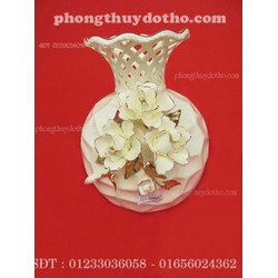 Bình hoa sứ 8022 - 2 , đồ phong thủy, đồ trang trí
