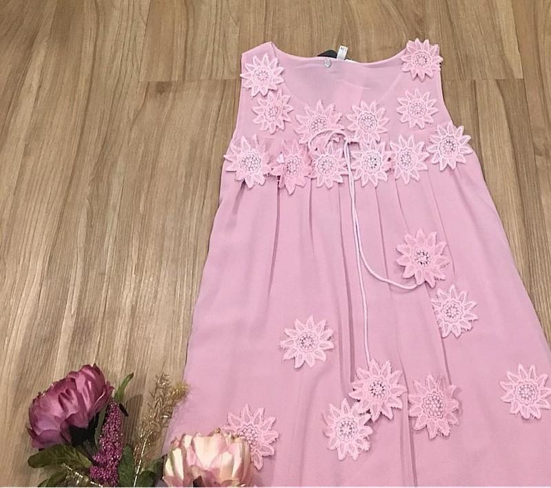 Đầm suông đính hoa nổi cao cấp 3