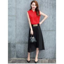 HÀNG NHẬP - Sét quần giả váy + áo phối túi giả