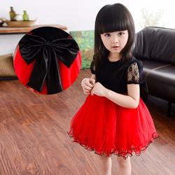 Đầm công chúa màu đỏ đen