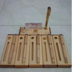 Bộ hộp bút gỗ khắc