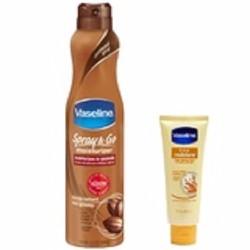 Bộ xịt dưỡng ẩm Vaseline Spray Cocoa Radiant và Kem dưỡng ẩm Moisture