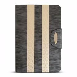 Bao da iPad Mini 2-3 hiệu iKare màu đen xám có nắp đậy
