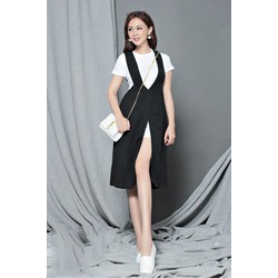 Bộ áo váy rời dạo phố thiết kế có tay cực dễ thương M31026
