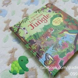 LOOK INSIDE THE JUNGLE - USBORNE BOOK