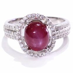 Nhẫn nữ đá Ruby sao