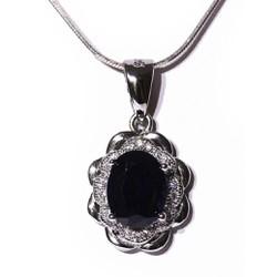 Mặt dây bạc Sapphire tự nhiên