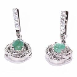 Bông tai đá Emerald B306