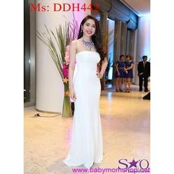 Đầm maxi cúp ngực trắng dự tiệc sang trọng trẻ đẹp DDH442