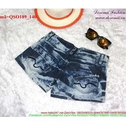 Quần short Jean nữ wash rách phong cách bụi bặm QSO189