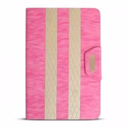 Bao da iPad Mini 2-3 hiệu iKare màu hồng có nắp đậy