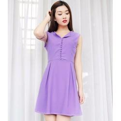 Đầm suông đính nút xinh - Có 3 màu lựa chọn