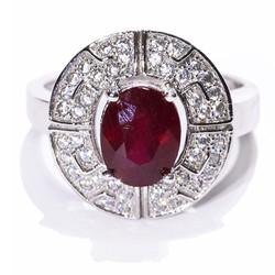 Nhẫn nữ đá Ruby tự nhiên
