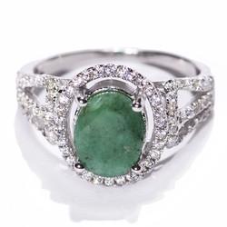 Nhẫn đá Emerald B319