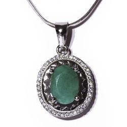 Mặt dây đá Emerald