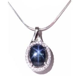 Mặt dây Sapphire sao B208