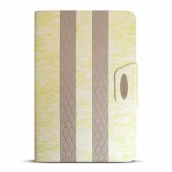 Bao da iPad Mini 2-3 hiệu iKare màu vàng nhạt có nắp đậy