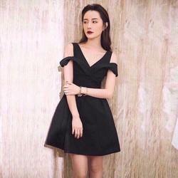 Đầm xòe rớt vai thời trang