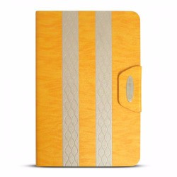 Bao da iPad Mini 2-3 hiệu iKare màu vàng cam có nắp đậy