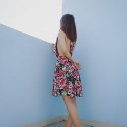 Đầm voan hoa dây chép lưng sexy