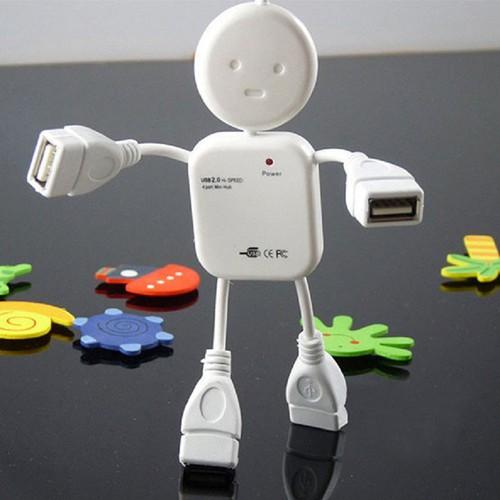 Hub chia USB thành 4 cổng hình robot phiên bản 2018