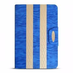 Bao da iPad Mini 2-3 hiệu iKare màu xanh dương có nắp đậy
