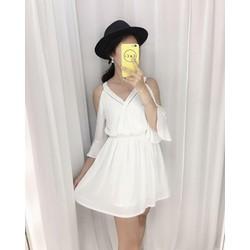 Đầm trể vai siêu đẹp_Charm shop