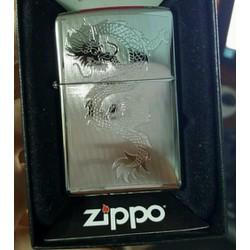 Quẹt zippo usa khắc hình con Rồng 2015 mới nguyên tem hộp