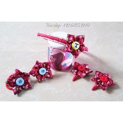 XK108 - Bộ cài tóc handmade hoa cherry