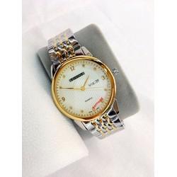 Đồng hồ dây inox nam demi vàng T164SGM
