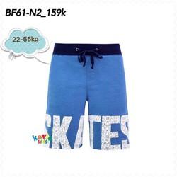 Quần short lửng in chữ Skates-Co.Blue