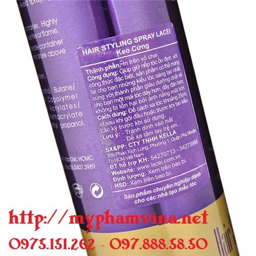 Keo xịt tóc cứng Lacei Hair Styling Spray 1